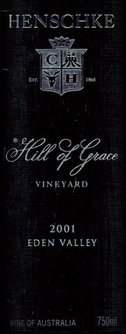 Henschke Hill of Grace Shiraz 2001 750ml, Eden Valley