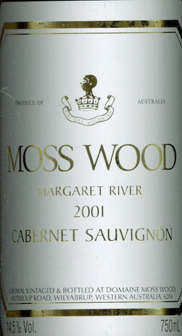 Moss Wood Cabernet Sauvignon 2001 750ml, Margaret River