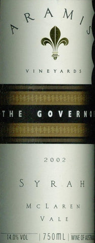 Aramis The Governor Syrah 2002 750ml, McLaren Vale