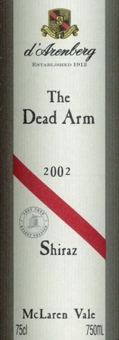 d'Arenberg The Dead Arm Shiraz 2002 750ml, McLaren Vale