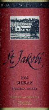 Dutschke St Jakobi Shiraz 2002 750ml, Barossa Valley