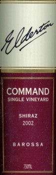 Elderton Command Shiraz 2002 750ml, Barossa Valley