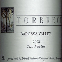 Torbreck The Factor Shiraz 2002 1.5L, Barossa Valley