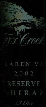Fox Creek Reserve Shiraz 2002 Magnum 1.5L, McLaren Vale