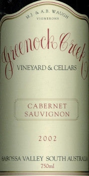 Greenock Creek Cabernet Sauvignon 2002 750ml, Barossa Valley