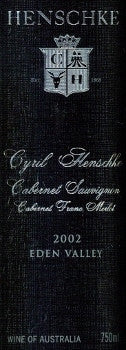 Henschke Cyril Cabernet Sauvignon 2002 750ml, Eden Valley