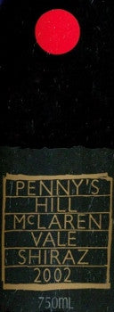 Penny's Hill Estate Shiraz 2002 750ml, McLaren Vale