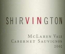 Shirvington Cabernet Sauvignon 2002 750ml, McLaren Vale