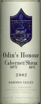 Viking Odins Honour Cabernet Shiraz 2002 750ml, Barossa Valley