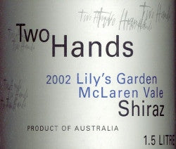Two Hands Lily's Garden Shiraz 2002 1.5L, McLaren Vale