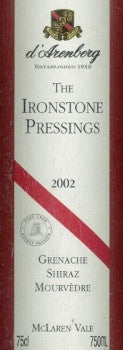 d'Arenberg Ironstone Pressings GSM 2002 750ml, McLaren Vale