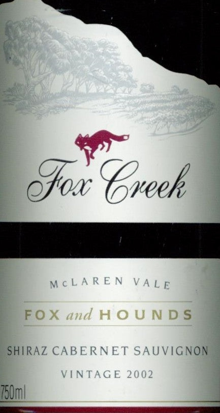 Fox Creek Fox & Hounds Shiraz Cabernet Sauvignon 2002 3L, McLaren Vale