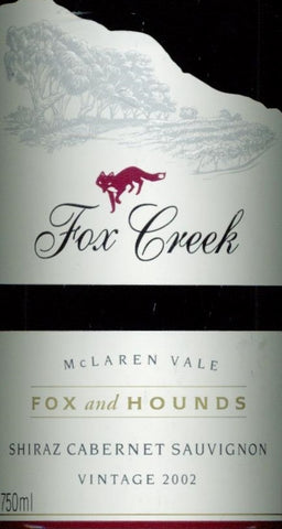 Fox Creek Fox and Hounds Shiraz/Cabernet Sauvignon 2002 750ml, McLaren Vale