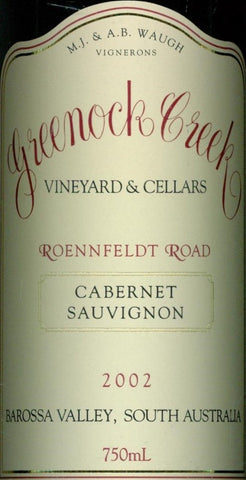 Greenock Creek Roennfeldt Road Cabernet Sauvignon 2002 750ml, Barossa Valley