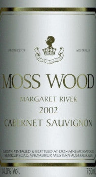Moss Wood Cabernet Sauvignon 2002 750ml, Margaret River