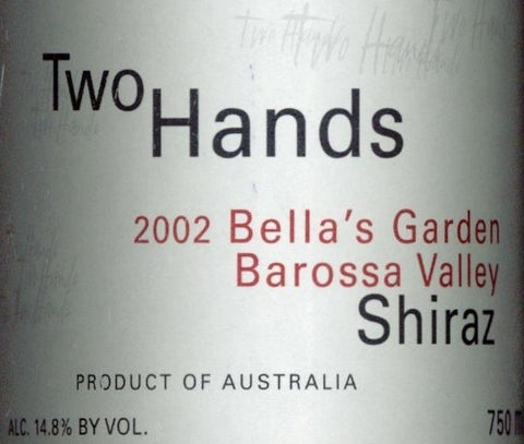 Two Hands Bella's Garden Shiraz 2002 750ml, Barossa Valley