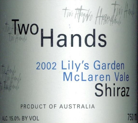 Two Hands Lily's Garden Shiraz 2002 Double Magnum 3L, McLaren Vale