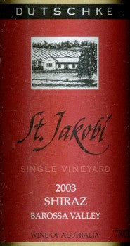 Dutschke St Jakobi Shiraz 2003 750ml, Barossa Valley
