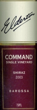 Elderton Command Shiraz 2003 750ml, Barossa Valley