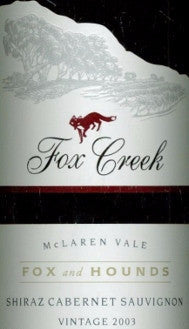 Fox Creek Fox & Hounds Shiraz Cabernet Sauvignon 2003 3L,McLaren Vale