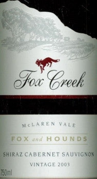 Fox Creek Fox & Hounds Shiraz Cabernet 2003 Imperial 6L, McLaren Vale