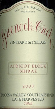 Greenock Creek Apricot Block Shiraz 2003 750ml, Barossa Valley