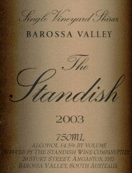 Standish The Standish Shiraz 2003 Double Magnum 3L, Barossa Valley