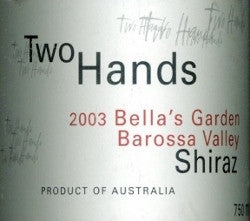 Two Hands Bella's Garden Shiraz 2003 Double Magnum 3L, Barossa Valley