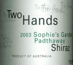 Two Hands Sophie's Garden Shiraz 2003 750ml, Padthaway