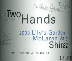 Two Hands Lily's Garden Shiraz 2003 magnum 1500ml, McLaren Vale