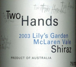 Two Hands Lily's Garden Shiraz 2003 750ml, McLaren Vale