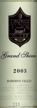 Viking Grand Shiraz 2003 Double Magnum 3L, Barossa Valley