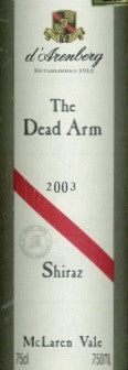 d'Arenberg The Dead Arm Shiraz 2003 750ml, McLaren Vale