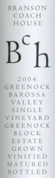 Branson Coach House Greenock Block Shiraz 2004 750ml, Barossa Valley