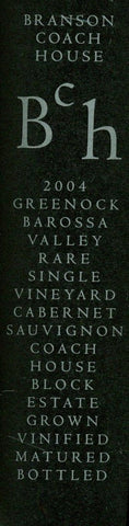 Branson Coach House Block Cabernet Sauvignon 2004 750ml, Barossa Valley