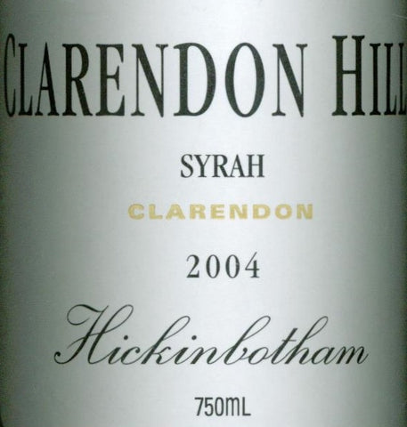 Clarendon Hills Hickinbotham Syrah 2004 750ml, McLaren Vale