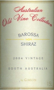 Gibson Australian Old Vine Collection Shiraz 2004 1.5L, McLaren Vale