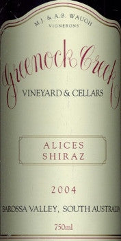 Greenock Creek Alice's Shiraz 2004 750ml, Barossa Valley