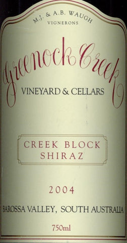 Greenock Creek Creek Block Shiraz 2004 750ml, Barossa Valley