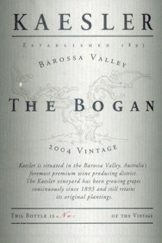 Kaesler The Bogan Shiraz 2004 Imperial 6L, Barossa Valley