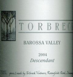 Torbreck Descendant Shiraz Viognier 2004 Double Magnum 3L, Barossa Valley