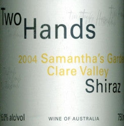 Two Hands Samantha's Garden Shiraz 2004 750ml, Clare Valley