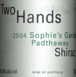 Two Hands Sophie's Garden Shiraz 2004 750ml, Padthaway