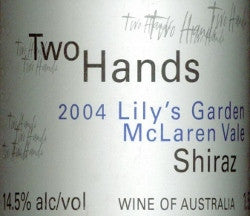 Two Hands Lily's Garden Shiraz 2004 1.5L, McLaren Vale