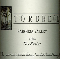 Torbreck The Factor Shiraz 2004 double magnum 3L, Barossa Valley