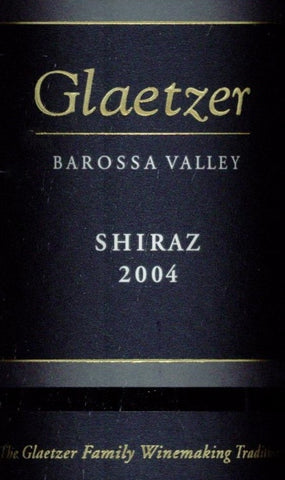 Glaetzer Shiraz 2004 750ml, Barossa Valley