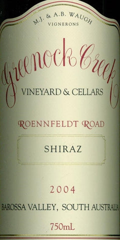 Greenock Creek Roennfeldt Road Shiraz 2004 750ml, Barossa Valley