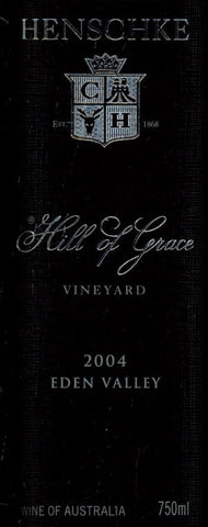 Henschke Hill of Grace Shiraz 2004 750ml, Eden Valley