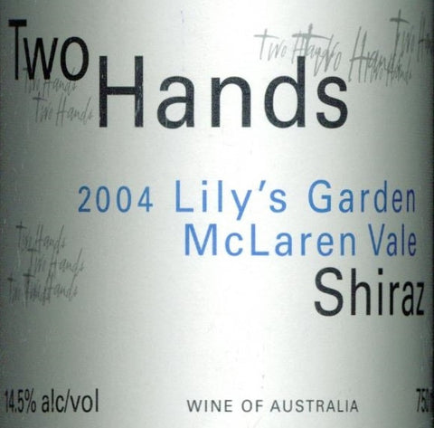 Two Hands Lily's Garden Shiraz 2004 Double Magnum 3L, McLaren Vale