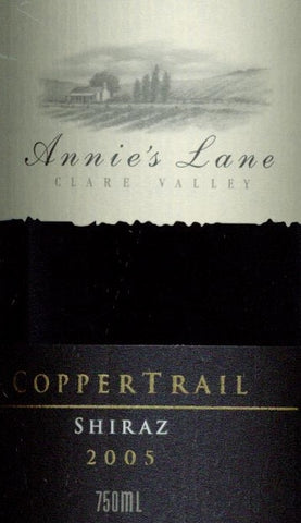 Annie's Lane Copper Trail Shiraz 2005 750ml, Clare Valley